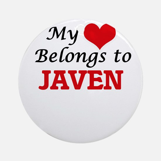 My heart belongs to Javen Round Ornament