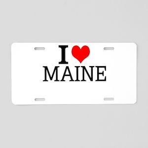 I Love Maine Aluminum License Plate
