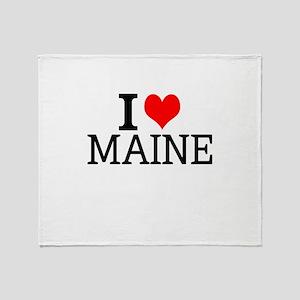 I Love Maine Throw Blanket