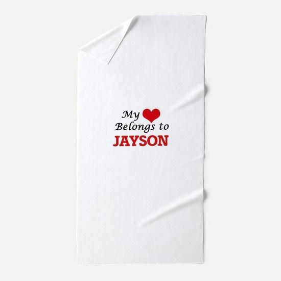 My heart belongs to Jayson Beach Towel