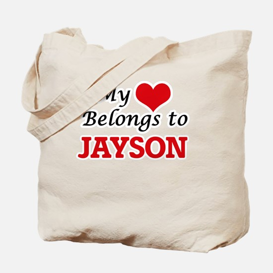 My heart belongs to Jayson Tote Bag