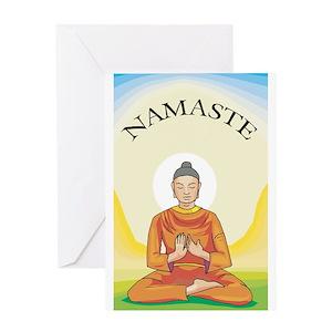 Monk greeting cards cafepress m4hsunfo