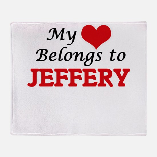 My heart belongs to Jeffery Throw Blanket