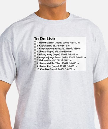 To Do Lis T-Shirt