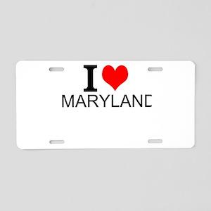 I Love Maryland Aluminum License Plate