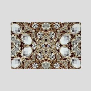 Bling Bling gold rhinestone Magnets