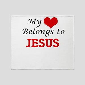 My heart belongs to Jesus Throw Blanket
