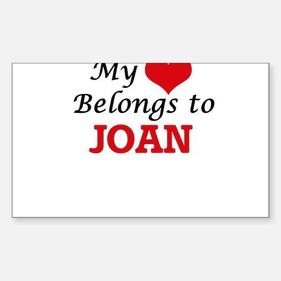 My heart belongs to Joan Decal