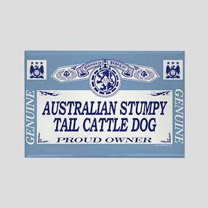 AUSTRALIAN STUMPY TAIL CATTLE DOG Rectangle Magnet