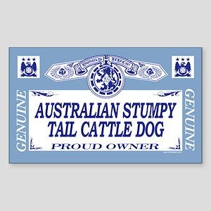 AUSTRALIAN STUMPY TAIL CATTLE DOG Sticker (Rectang