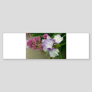 garden flowers iris Bumper Sticker