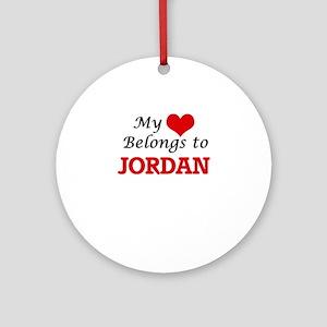 My heart belongs to Jordan Round Ornament