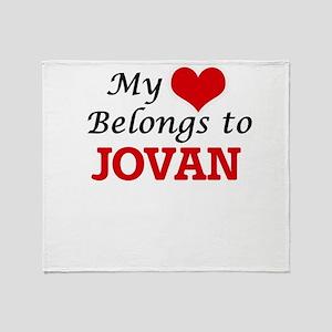My heart belongs to Jovan Throw Blanket