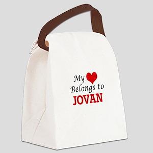 My heart belongs to Jovan Canvas Lunch Bag