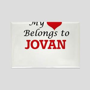 My heart belongs to Jovan Magnets