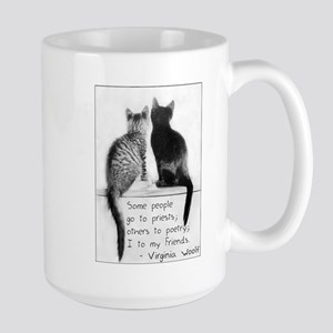 Friendship Cats-And-Quote Large Mug
