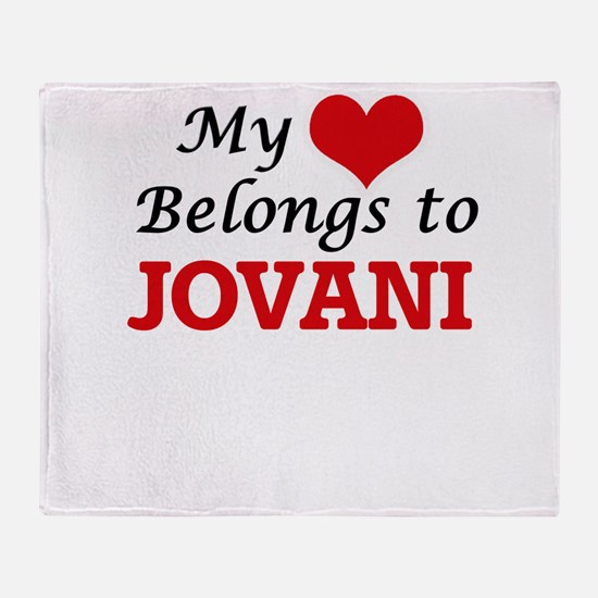 My heart belongs to Jovani Throw Blanket