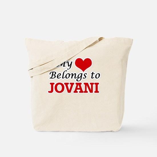 My heart belongs to Jovani Tote Bag