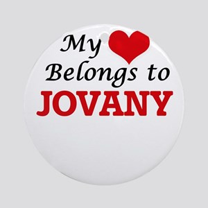 My heart belongs to Jovany Round Ornament