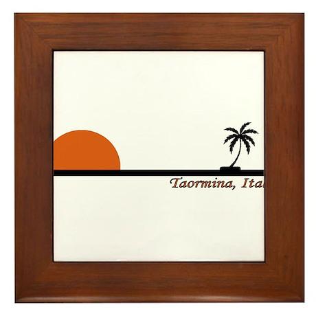 Taormina, Italy Framed Tile