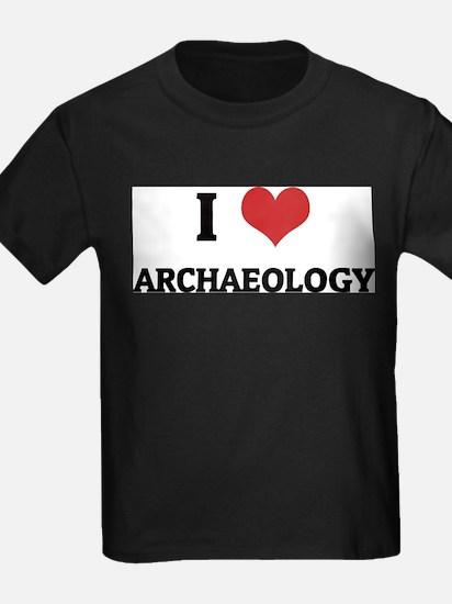 I Love Archaeology Ash Grey T-Shirt
