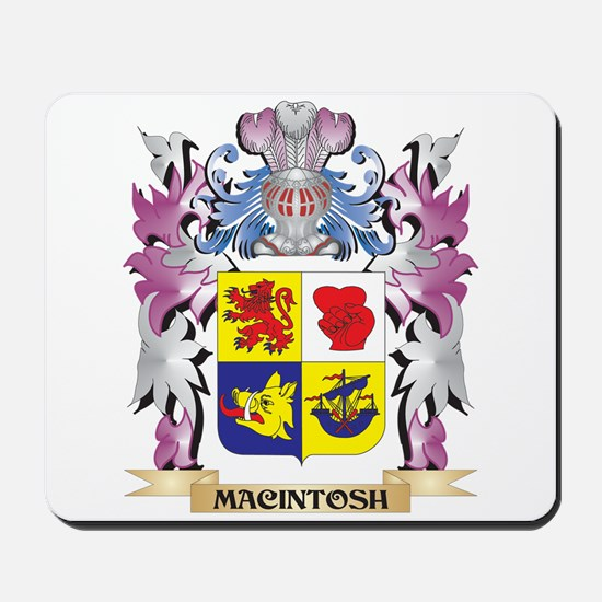 Macintosh Coat of Arms - Family Crest Mousepad