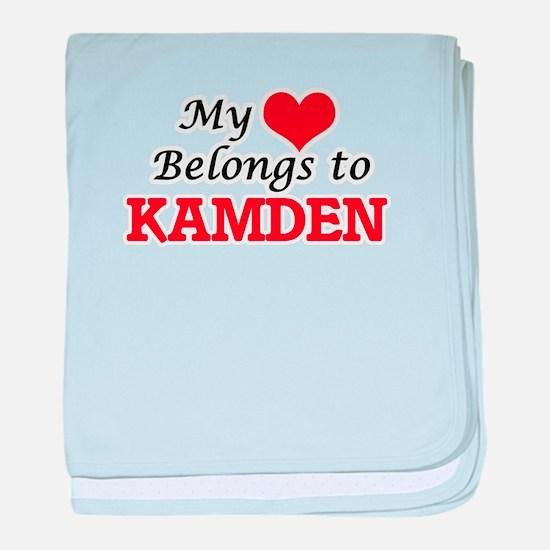 My heart belongs to Kamden baby blanket