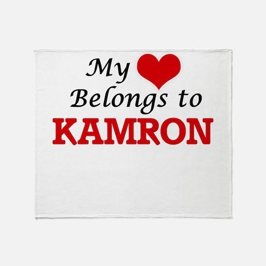My heart belongs to Kamron Throw Blanket