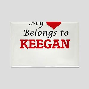 My heart belongs to Keegan Magnets