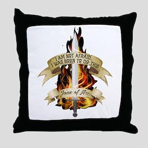 Joan of Arc - Born 2016 Throw Pillow