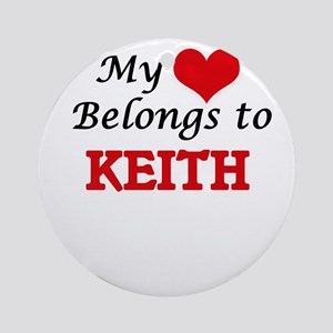 My heart belongs to Keith Round Ornament