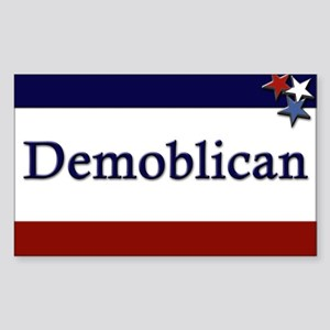 Demoblican Rectangle Sticker