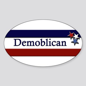 Demoblican Oval Sticker
