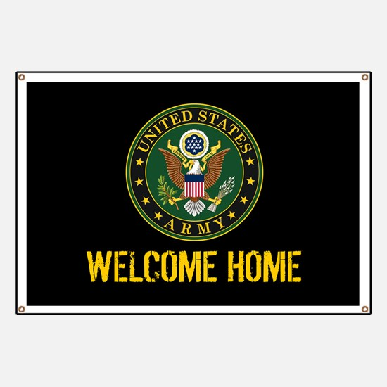U.S. Army: Welcome Home (Black & Gold) Banner