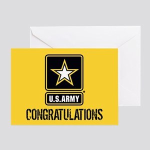 U.S. Army: Congratulations (Black & Greeting Card