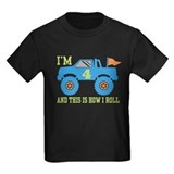 4 year birthday girl Kids T-shirts (Dark)