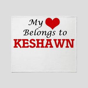 My heart belongs to Keshawn Throw Blanket