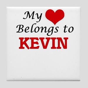 My heart belongs to Kevin Tile Coaster