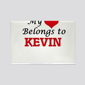 My heart belongs to Kevin Magnets