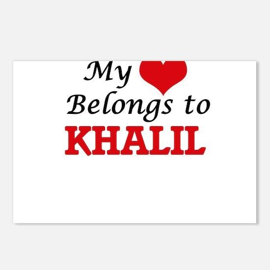 My heart belongs to Khali Postcards (Package of 8)