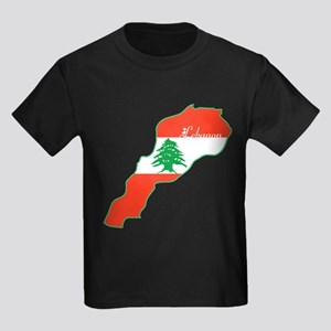 Cool Lebanon Kids Dark T-Shirt
