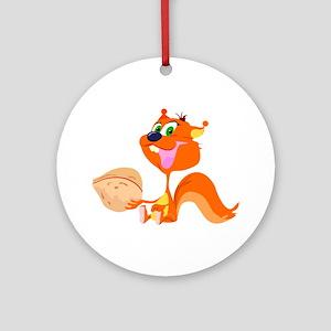 Happy Squirrel Ornament (Round)