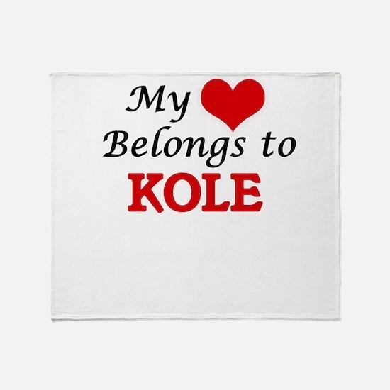 My heart belongs to Kole Throw Blanket