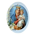 Crowned Christ Oval Ornament