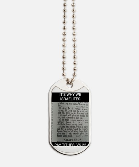 Bible Scripture - Tithes Dog Tags