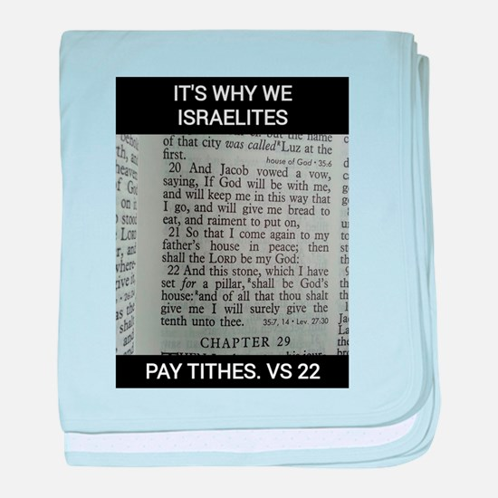 Bible Scripture - Tithes baby blanket