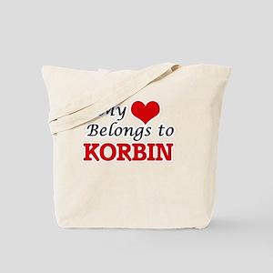My heart belongs to Korbin Tote Bag