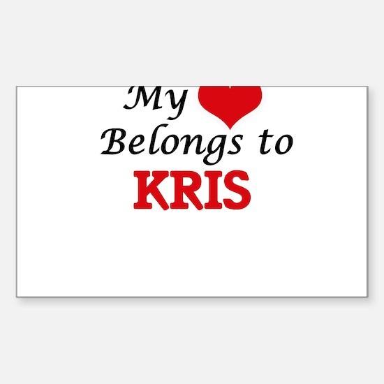 My heart belongs to Kris Decal