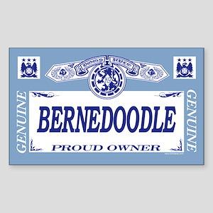 BERNEDOODLE Rectangle Sticker