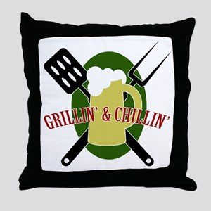 Chillin' & Grillin' Throw Pillow